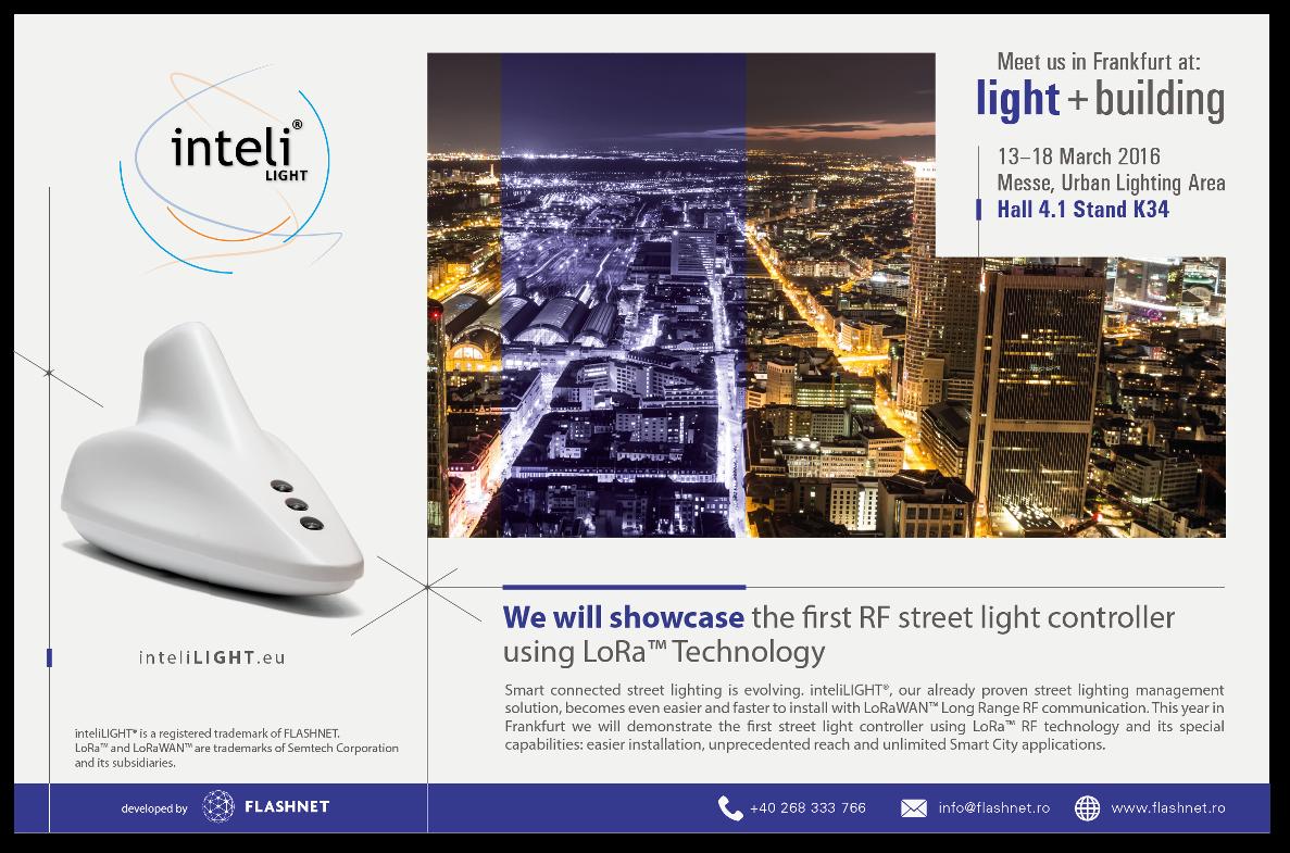 light+building Frankfurdt - inteliLIGHT invitation 2