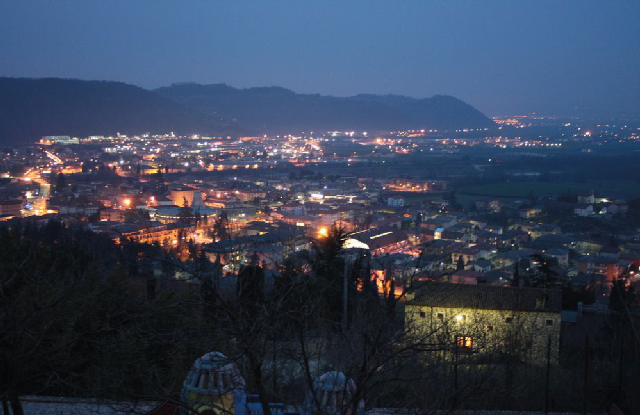 Smart streetlights use LoRaWAN™ and inteliLIGHT® to communicate - in Vicentino, Italy