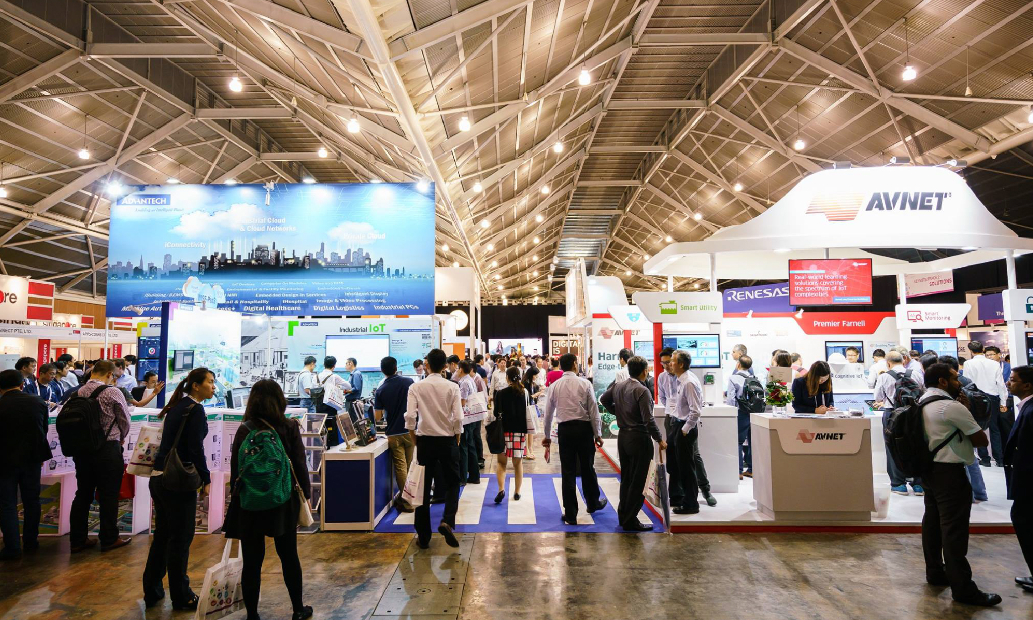 inteliLIGHT® streetlight control uses Sigfox communication during IoT Expo Asia in Singapore, March 2018