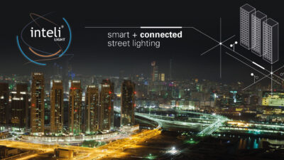 inteliLIGHT® streetlight controllers have been installed in Abu Dhabi for a smart city prototype based on Sigfox connectivity