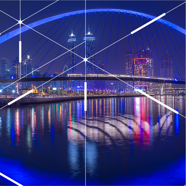 Smart public lighting project for Dubai Water Canal