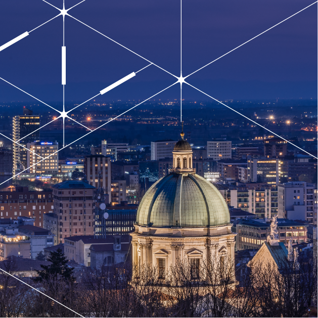 Smart public lighting project in Brescia, Northern Italy
