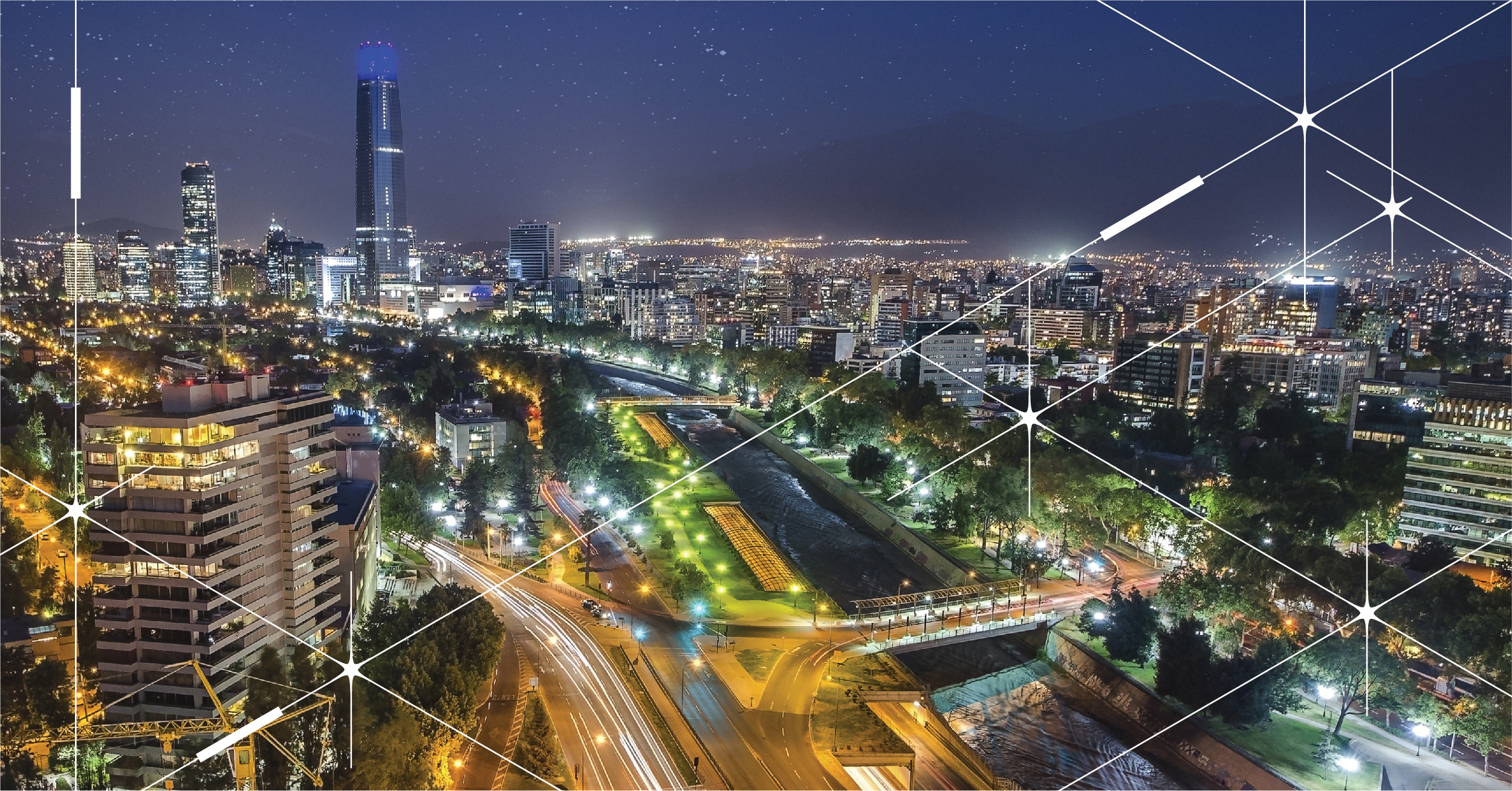 Using the inteliLIGHT solution, ENGIE takes on a 15 year commitment to manage smart street lighting in Chile's capital city, Santiago