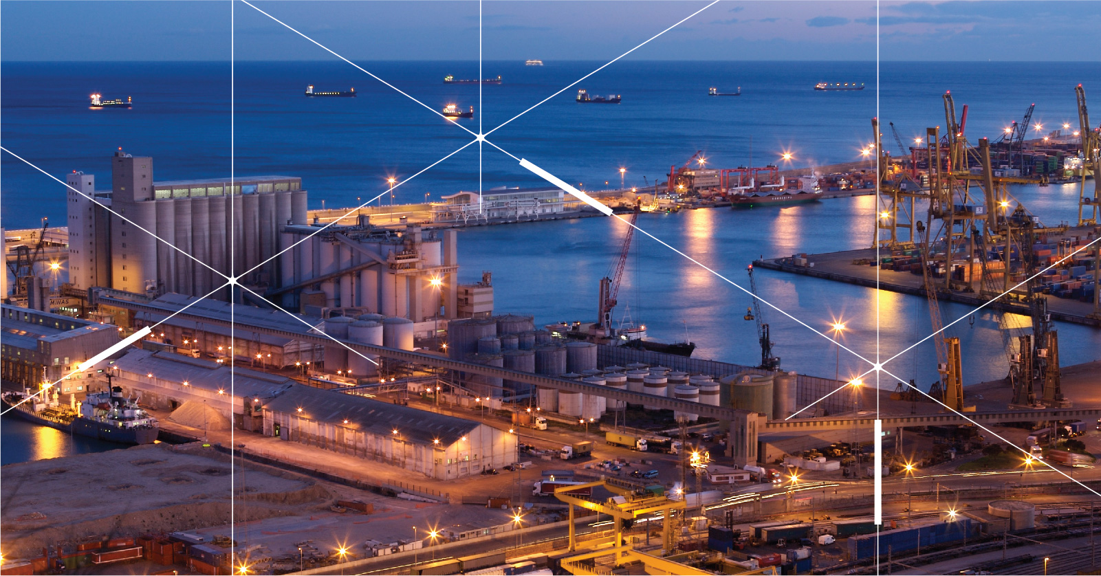Energy efficiency goals of a Port in Oman come into being through a smart outdoor lighting solution provided by InteliLIGHT